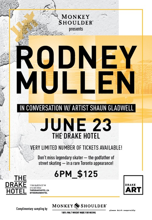 Monkey Shoulder® Whisky Presents Rodney Mullen In Conversation With Shaun Gladwell